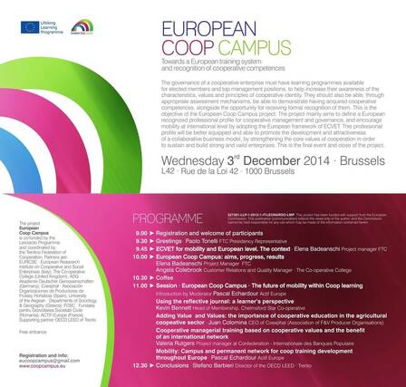 December 3, 2014 EU Coop Campus Seminar, Brussels.